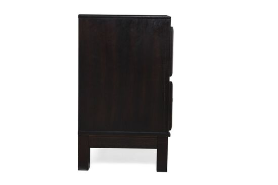 "26"" Contemporary Two-Drawer Nightstand in Onyx"