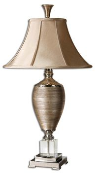 Urn Base Table Lamp in Gold