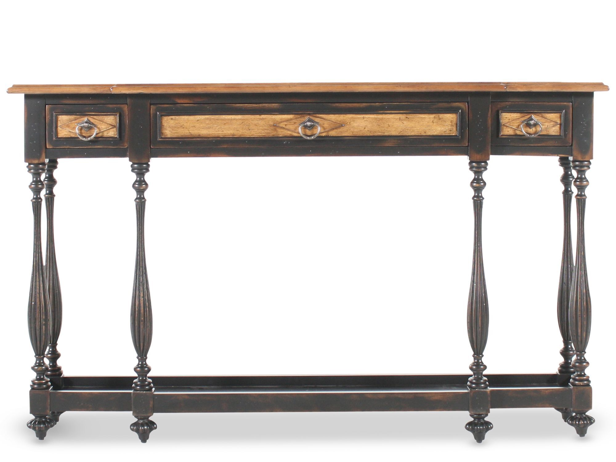 hooker ebony thin console table