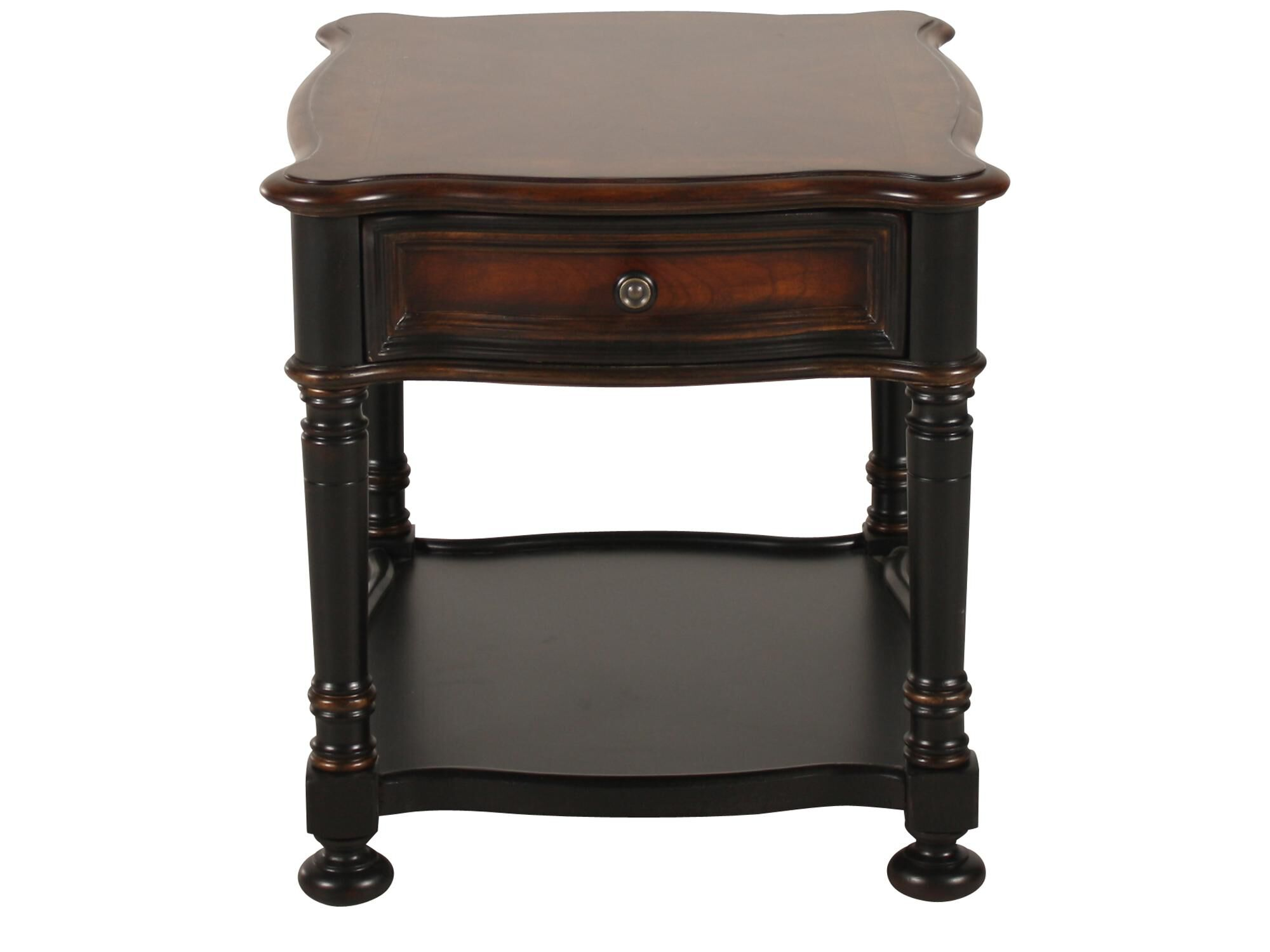 Square One Drawer Traditional End Tableu0026nbsp;in Black