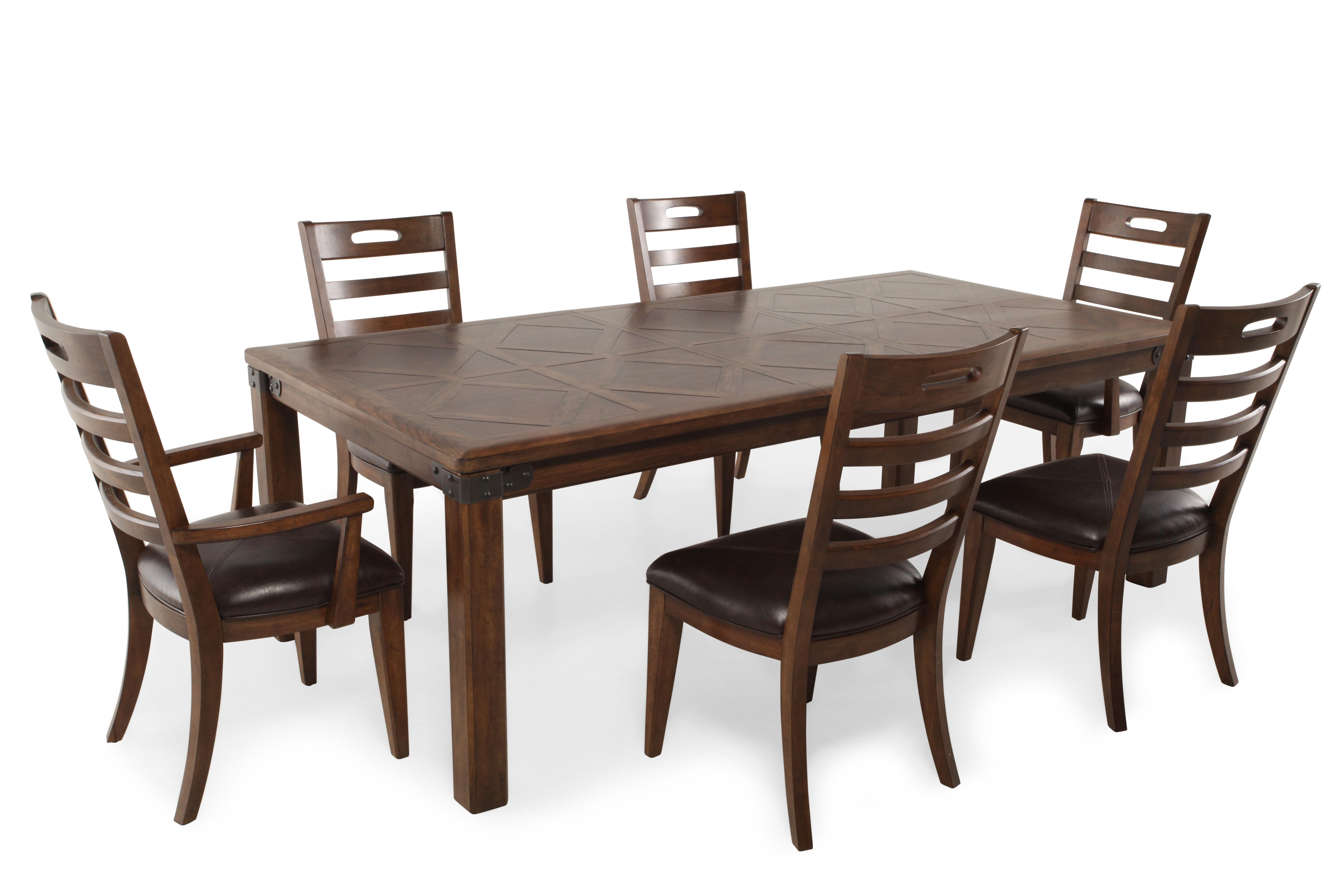 pulaski heartland falls sevenpiece dining set