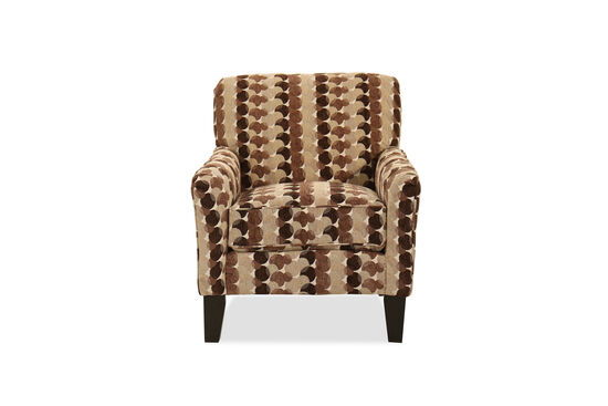 "Abstract-Patterned Transitional 30"" Accent Chair"