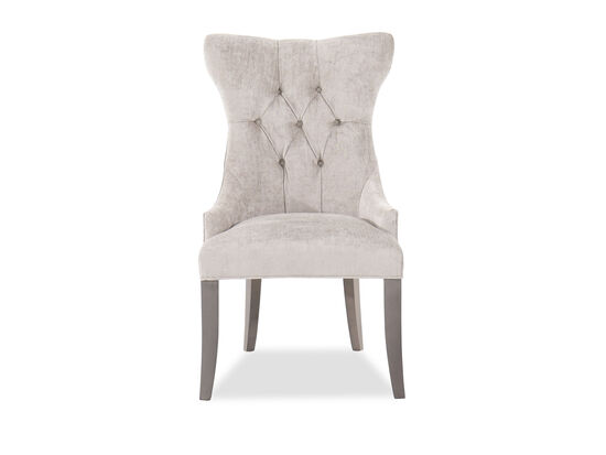 "Button-Tufted 25"" Deco Chairin Grey"