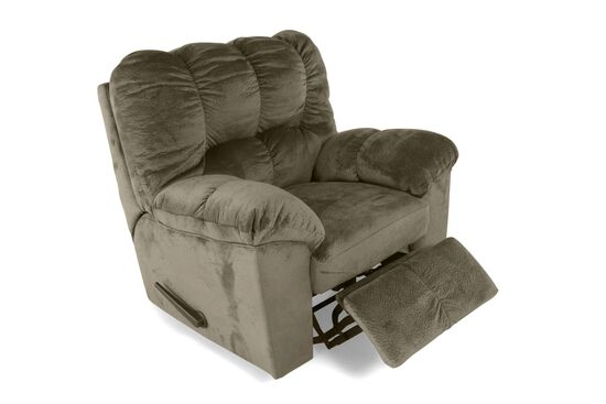 "Contemporary 42"" Rocker Recliner in Olive"