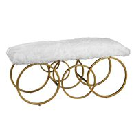 Uttermost Blaine Plush White Fur Bench