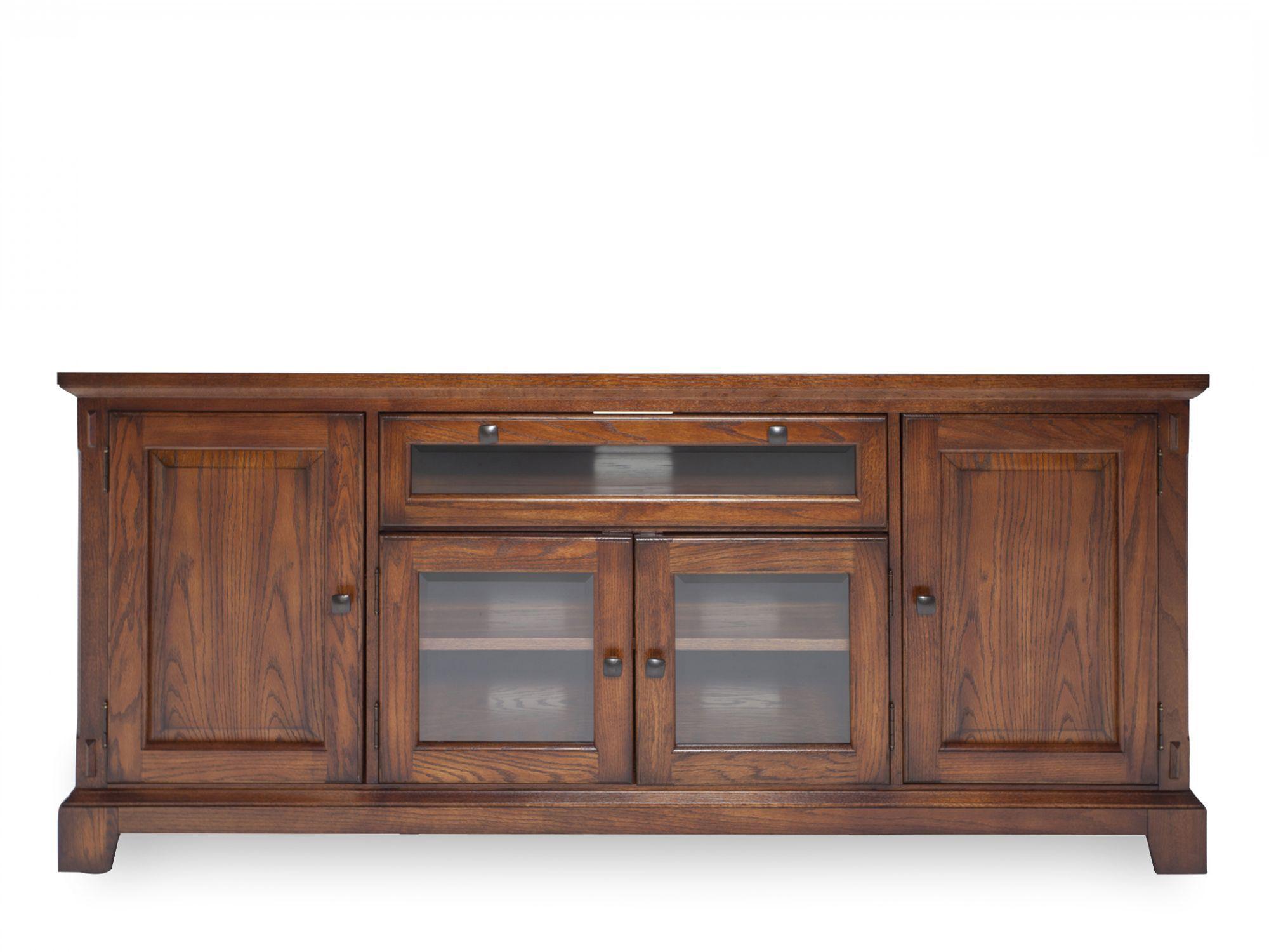 Images 32u0026quot; Glass Door Media Console In Oak 32u0026quot; Glass Door Media  Console In Oak