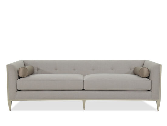 """Low-Profile Tufted 89"""" Sofa in Gray"""