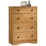 """39"""" Traditional Four-Drawer Chest in Highland Oak"""