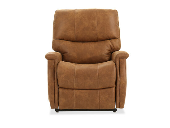 Remote-Controlled Leather 34.5'' Power Lift Chair in Brown