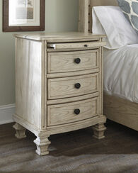"""32"""" Casual Night Tablein Parchment White"""