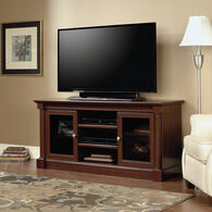 Two-Framed Door Traditional Entertainment Credenza in Cherry
