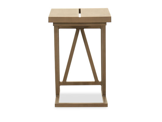 Aluminum Slider Tray Table in Brown