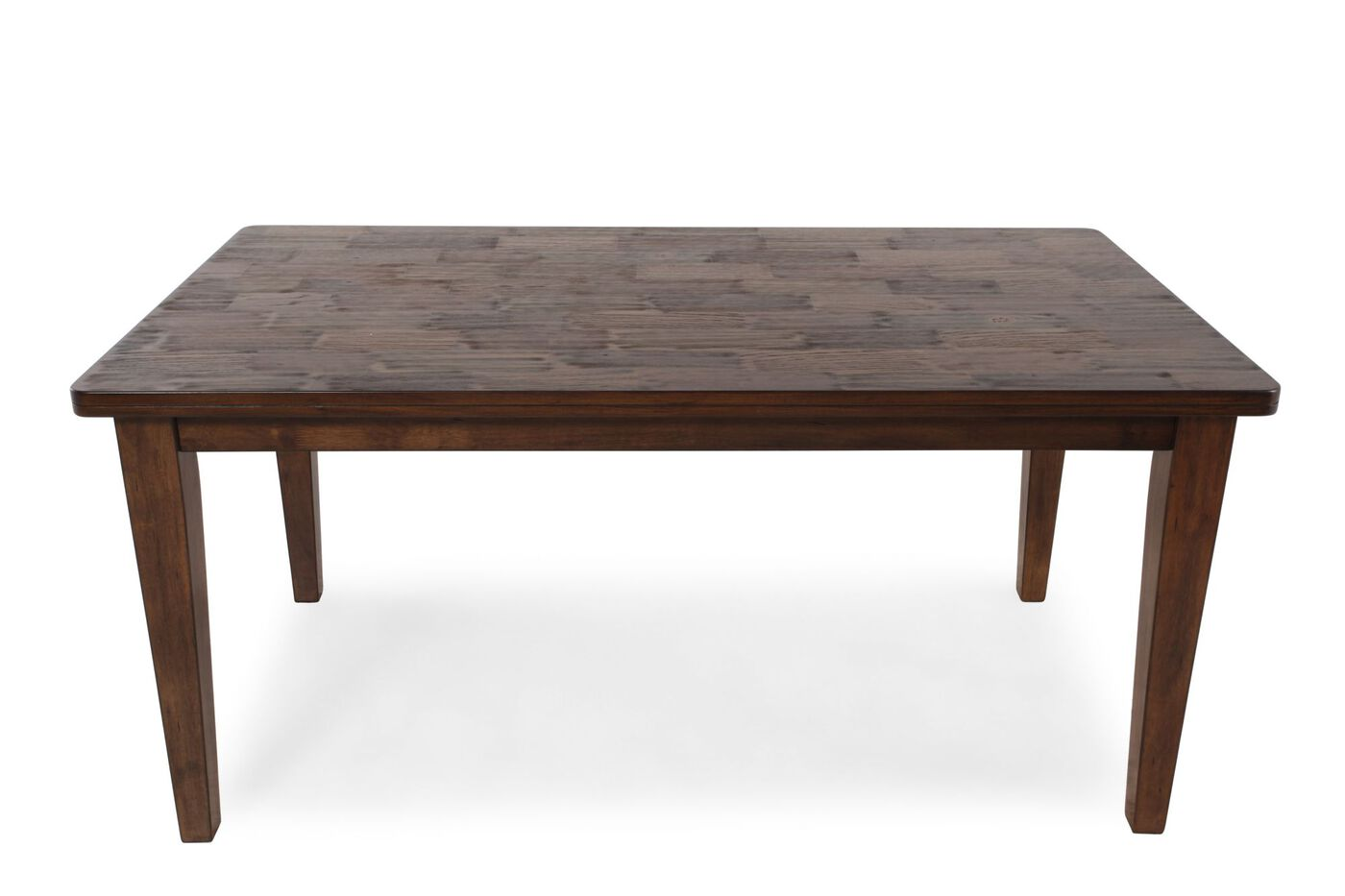 Casual 64 butcher block dining table in medium brown for Casual kitchen tables