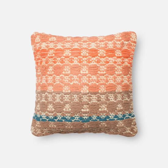 "18""x18"" Pillow Cover Only in Rust/Lt. Brown"