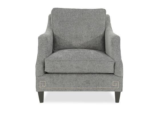 """Nailhead Accented Metropolitan 35"""" Chair in Gray"""