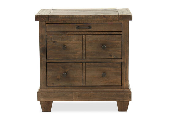 "29"" Country Nightstand in Dark Brown"