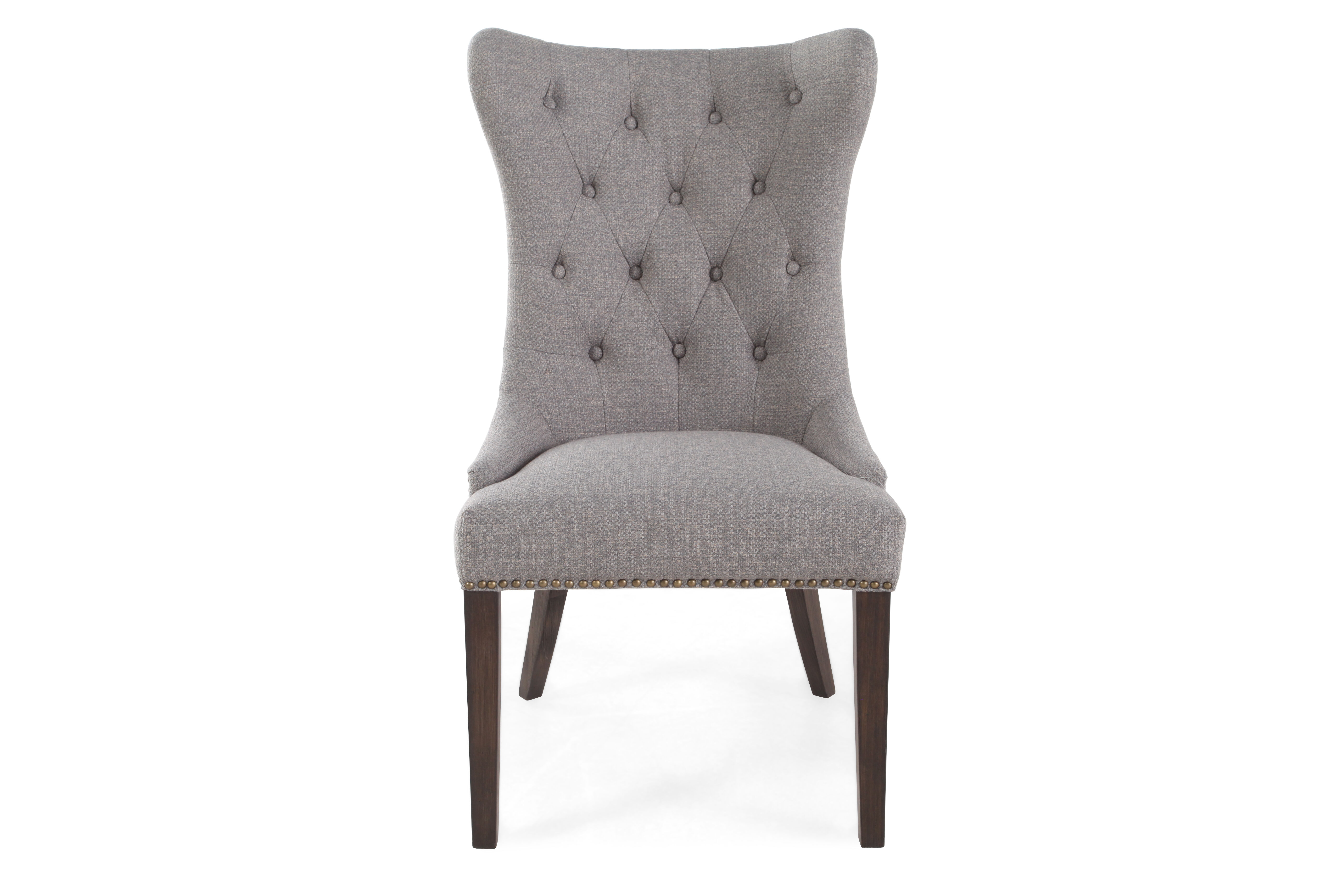 Boulevard Sage Tufted Back Dining Chair Mathis Brothers Furniture