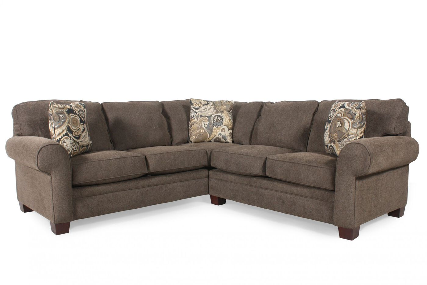 Two Piece Sectional In Brown