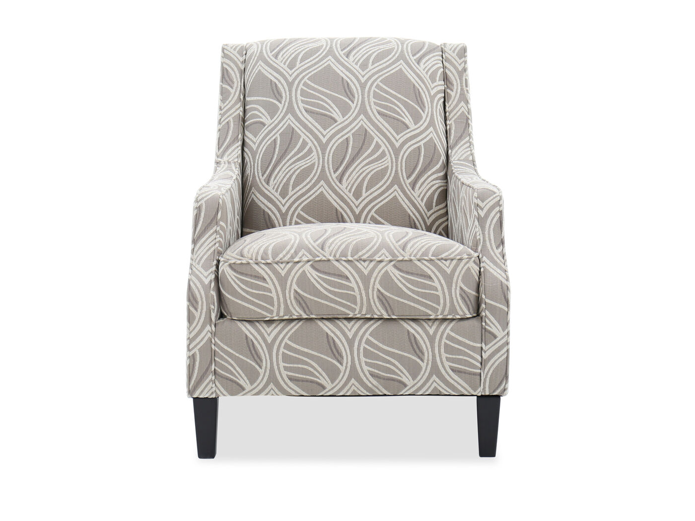 Leaf Patterned Contemporary 30 Quot Accent Chair In Beige