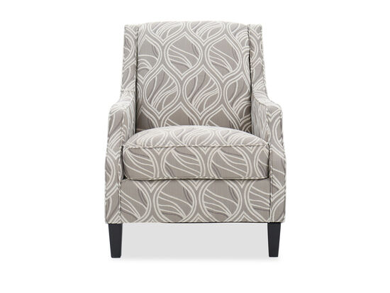 """Leaf Patterned Contemporary 30"""" Accent Chair in Beige"""