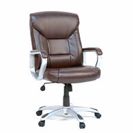 MB Home Embassy Leather Brown Deluxe Executive Chair
