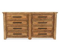 "38"" Timeworn Distressed Eight-Drawer Dresser in Pecan"