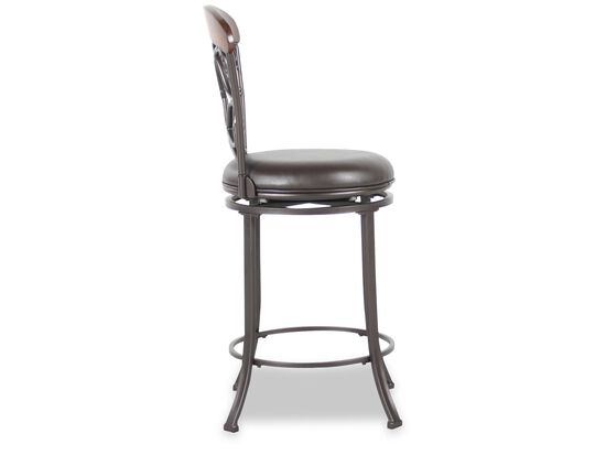 Swivel 41 5 Quot Bar Stool In Dark Gray Mathis Brothers