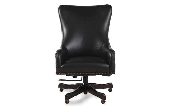 Leather Executive Swivel Tilt Chair in Black