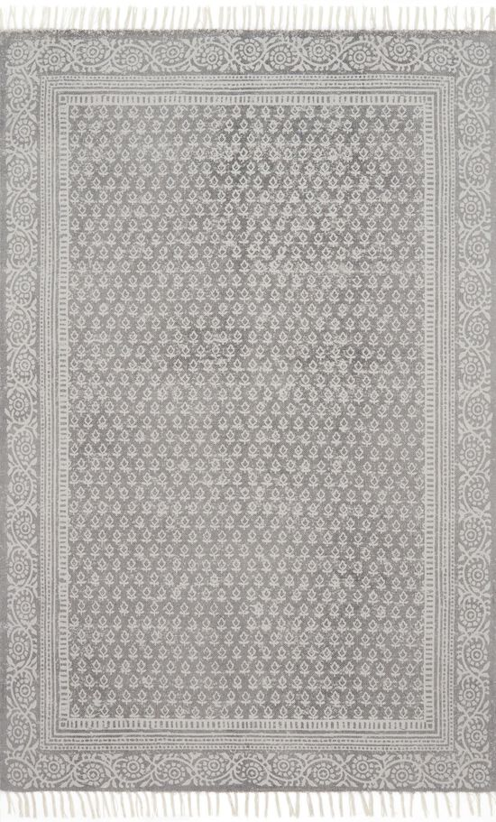 """Transitional 1'-6""""x1'-6"""" Square Rug in Grey"""