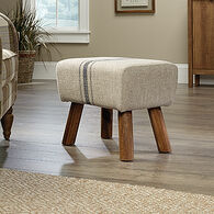 "Contemporary 13"" Accent Stool in Beige"