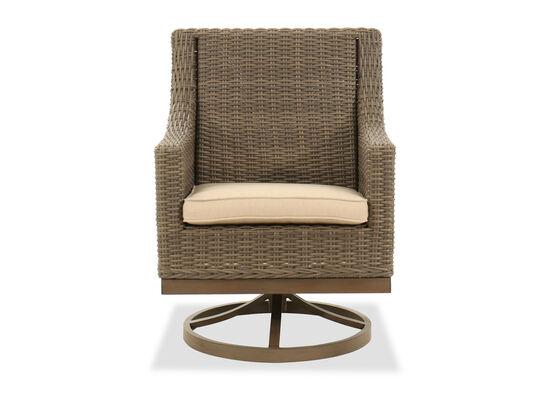 Swivel Rocker Dining Chair in Aged Teak