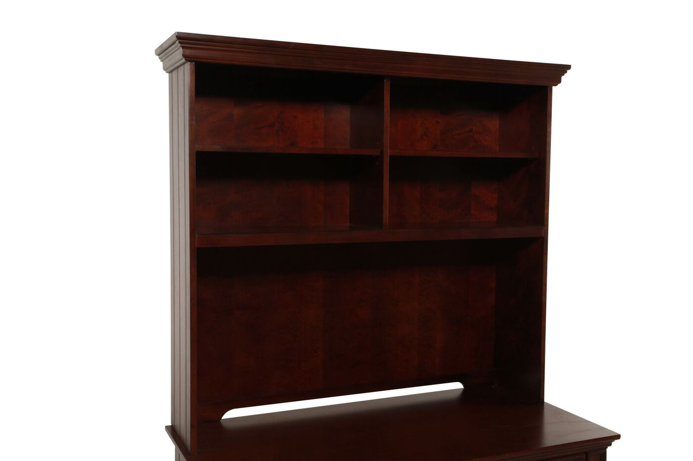 Four Shelf Casual Desk Hutch In Chocolate Brown Mathis