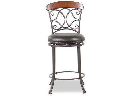"Swivel 41.5"" Bar Stool in Dark Gray"