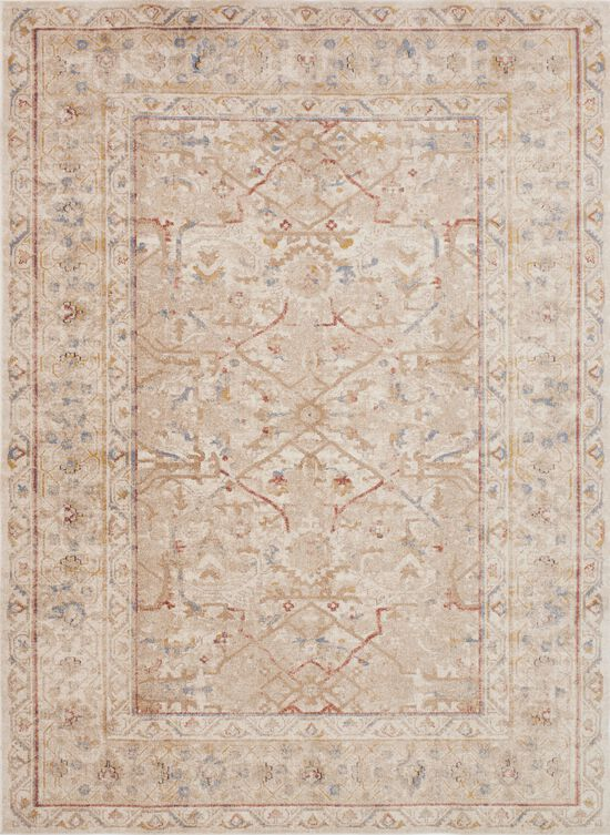 """Traditional 1'-6""""x1'-6"""" Square Rug in Sand"""