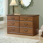 Traditional Six-Drawer Dresser in Milled Cherry