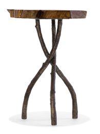 Hooker Acacia Round Slab Table