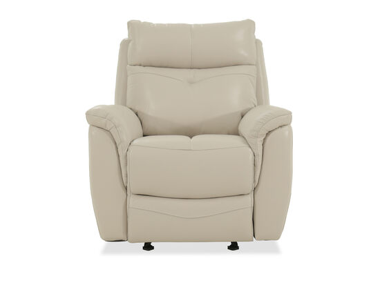 Leather Free Standing Power Glider Recliner in Cream