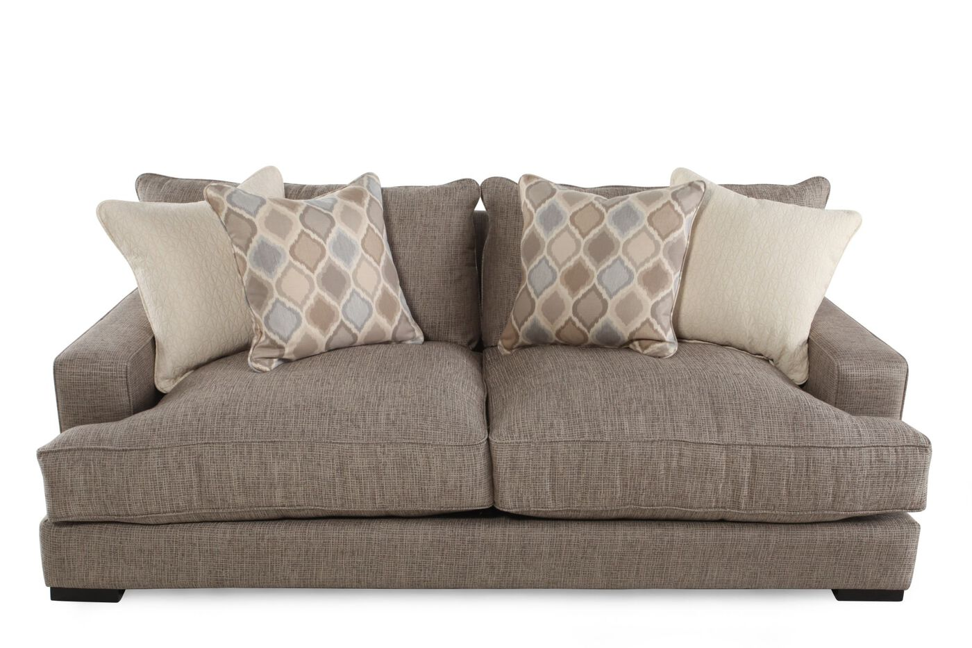 Contemporary Low Profile 47 Quot Sofa In Taupe Mathis