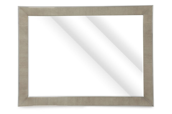 "36"" Metropolitan Beveled Accent Mirror in Heather Gray"