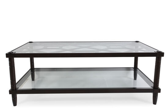 Rectangular Traditional Cocktail Table in Dark Raven