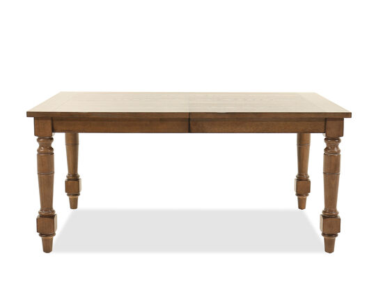 "Traditional 31"" Rectangular Dining Table with Leaf in Medium Brown"