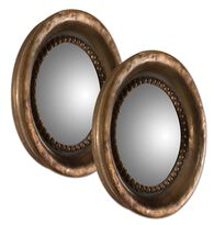 Uttermost Tropea Rounds Wood Mirror S/2
