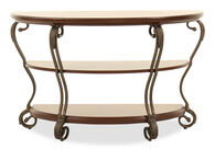 Scrolled Legs Traditional Sofa Table in Burnished Bronze