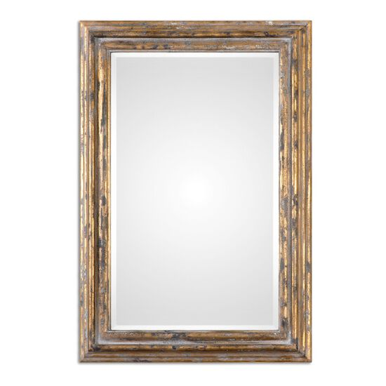 """40"""" Distressed Accent Mirror in Antiqued Gold Leaf"""
