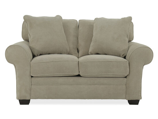 "Textured Casual 67"" Loveseat in Beige"