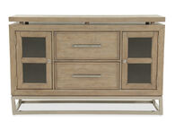"Traditional 56"" Rectangular Server in Light Brown"