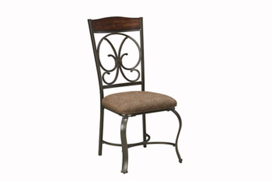 Scrolled Back 40.5'' Dining Side Chair in Dark Bronze