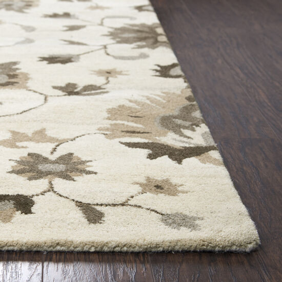 Transitional Hand-Tufted 9'  x  12' Rectangle Rug in Beige