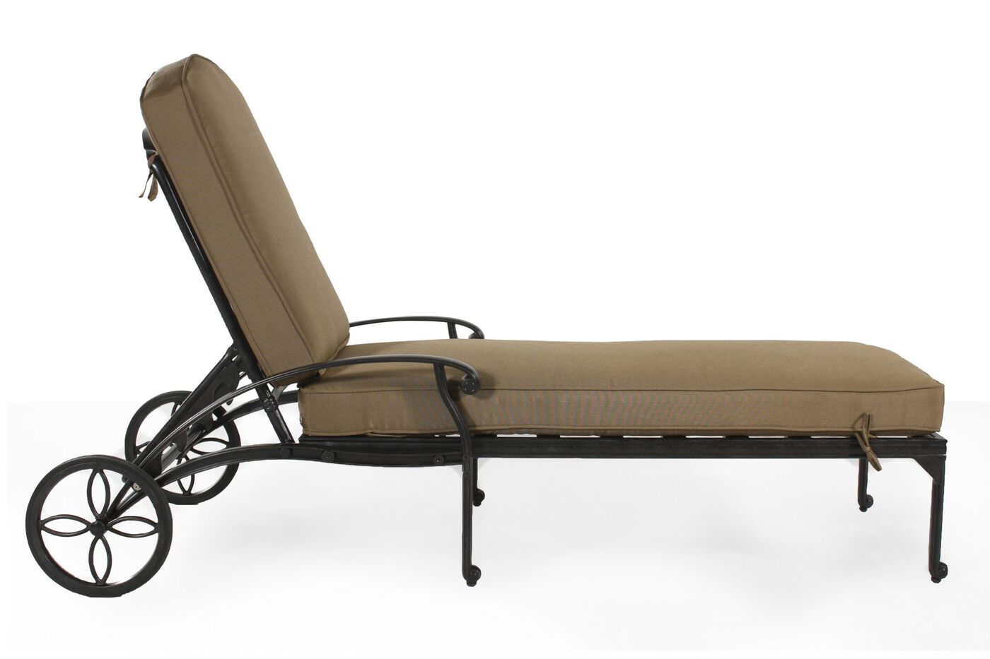 Aluminum chaise lounge in bronze mathis brothers furniture for Bronze chaise lounge