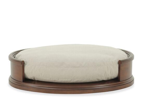 """Contemporary 40"""" Oval Dog Bedin Cream"""